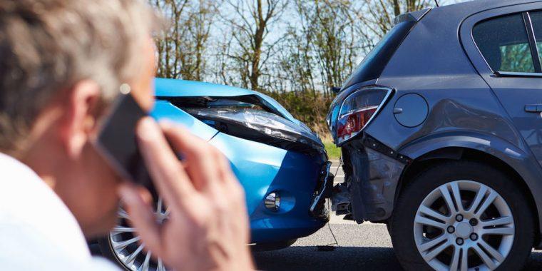 wrecked car representing car insurance